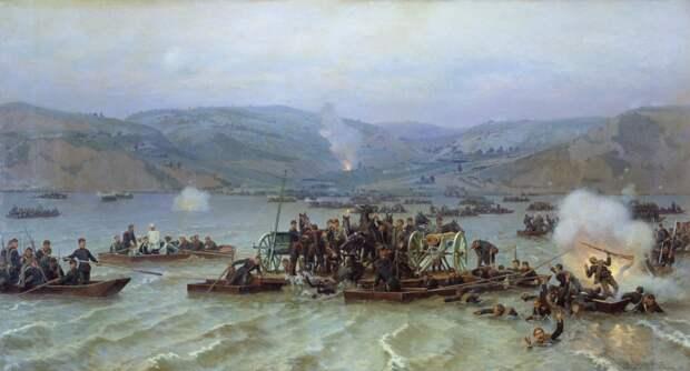 Переправа русской армии через Дунай у Зимницы 15 июня 1877 года, Николай Дмитриев-Оренбургский (1883)