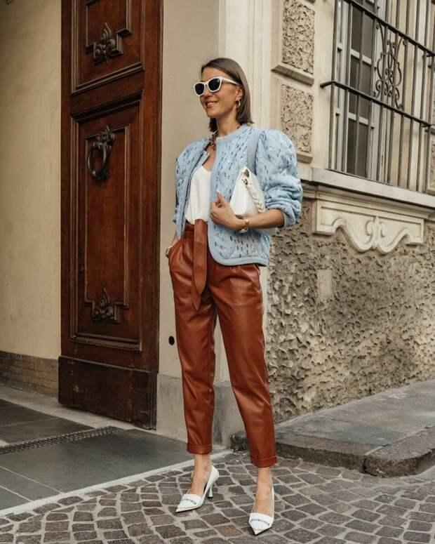 Модная кожаная одежда весна-лето 2021, которую можно носить абсолютно везде