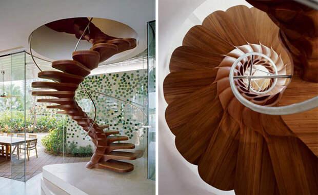 оригинальные лестницы на второй этаж
