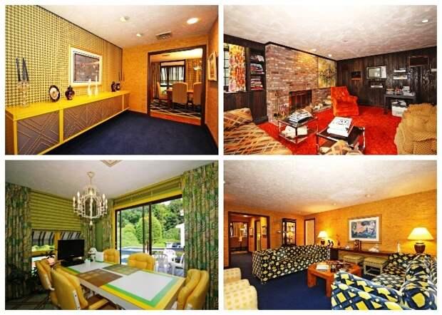 За последних 50 лет в доме не менялась даже мебель и текстиль (ретро-дом в Фрамингеме, США). | Фото: travelandleisure.com.