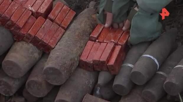 Саперы уничтожили схрон с сотнями снарядов времен ВОВ под Ростовом