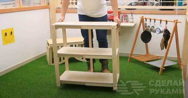 Складная этажерка на колесиках своими руками