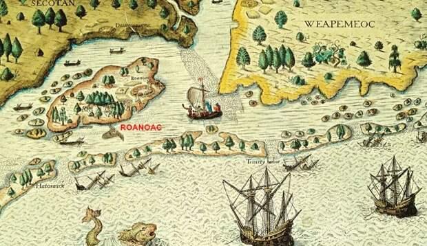 Остров Роанок в Вирджинии.