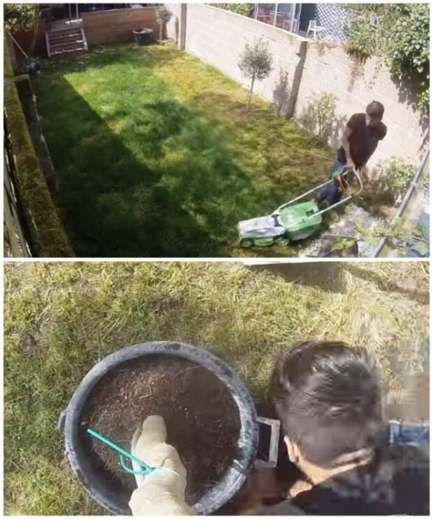 Для начала Марвин скосил траву и выкопал все молодые деревья. | Фото: youtube.com/ M A R V I N Atmoss'vert.