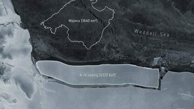 От Антарктиды откололся самый большой айсберг в мире