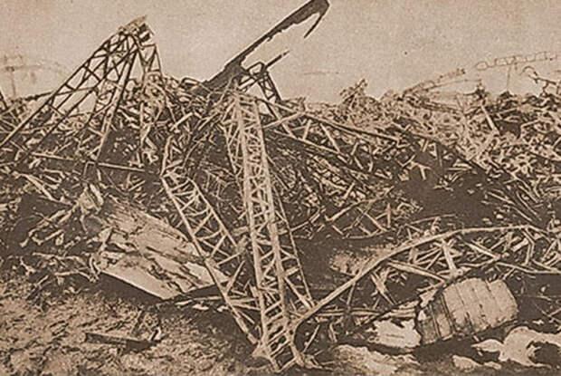 Все, что осталось от L-31 Генриха Мати после ночного боя на подступах к Лондону 2 октября 1916 года