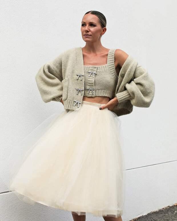 12 стильных примеров с чем носить юбку из фатина и кому она подходит