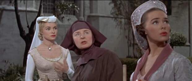 """Тони Кёртис и Джанет Ли в приключенческом фильме """"Черный щит Фолворта"""" (1954)."""