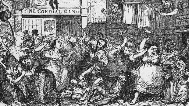 Лондонская «Эпидемия джина», или Как пьянство едва не уничтожило королевство