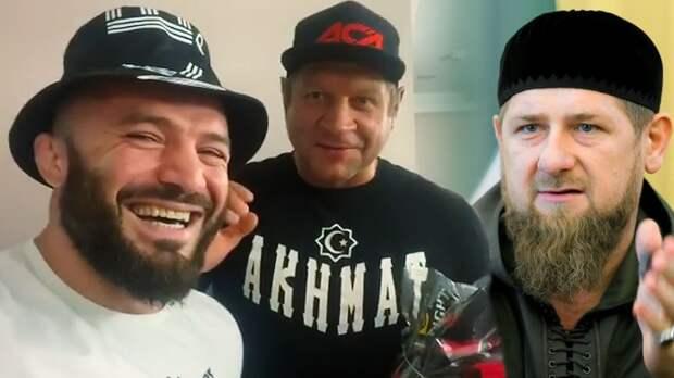 «Рамзан Кадыров пожелал победы». Емельяненко и Исмаилов встретились перед боем
