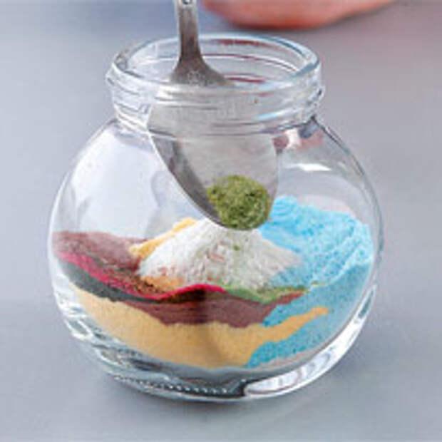 Рисунки из песка и соли. Шаг 4