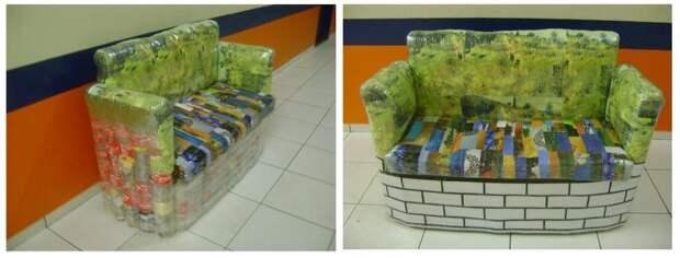 Дачная мебель из пластиковых бутылок: антикризисный дизайн