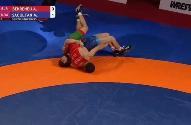 Максим Сакулцан стал бронзовым призером чемпионата Европы по борьбе