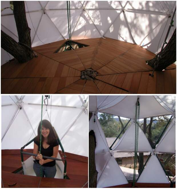 Дом-«фонарик» сможет обеспечить полное уединение («Tree House», Висконсин).   Фото: coroflot.com.