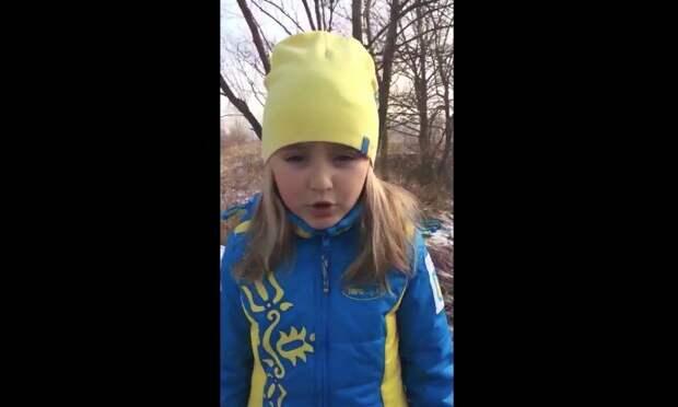Гневное видео-обращение пятилетней украинки ко всем врагам Украины (видео)
