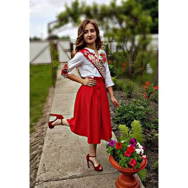 Выпускница из Ровенской области. Фото — @____princesska.v