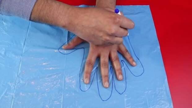 Нужны одноразовые перчатки? Сделайте их сами!