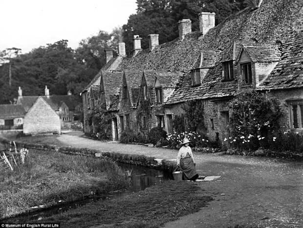 Деревня Бибери в графстве Глостершир