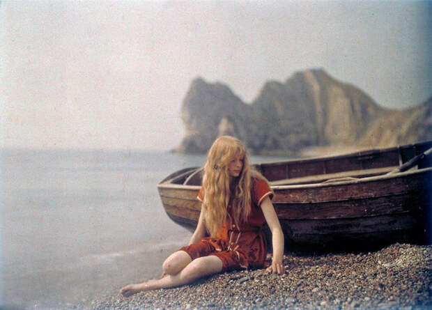 Кристина в красном: редкие цветные фотографии 1913 года Кристина, ретро, фото, цвет