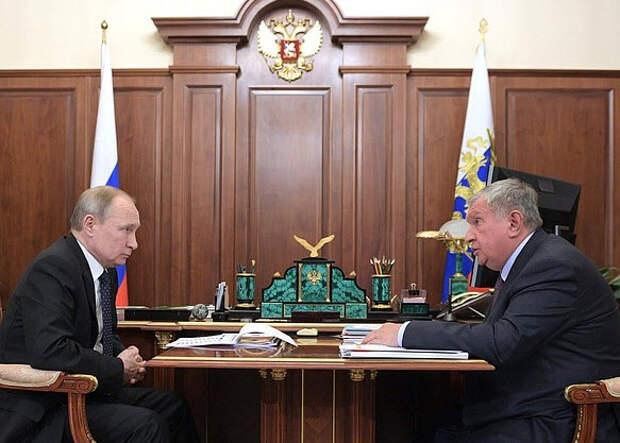Владимир Путин и Игорь Сечин, 2020 год