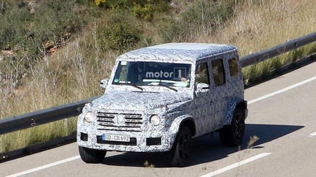 Супер-«гелик»: Mercedes-AMG тестирует G63 нового поколения