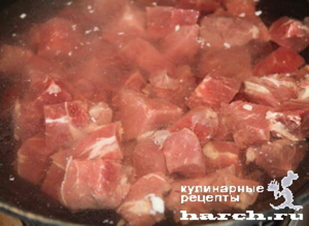 ragu is govyadini s kabachkami i baklaganami 04 Рагу из говядины с кабачками и баклажанами