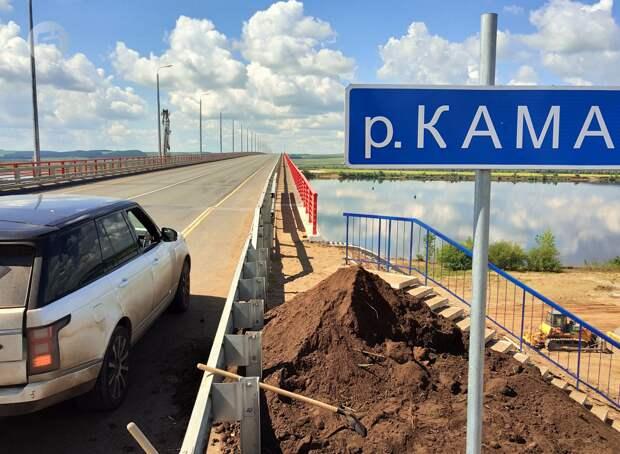 Дорожники в Башкирии начали ремонт дороги к Камскому мосту