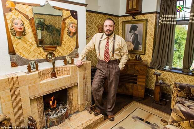 Назад в прошлое: британец трансформировал свой дом в стиле 1930‑х годов
