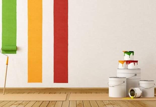 покраска стен: плюсы и минусы