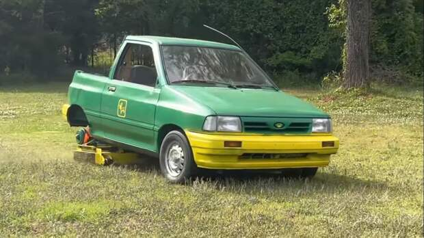 Ford Festiva стал газонокосилкой