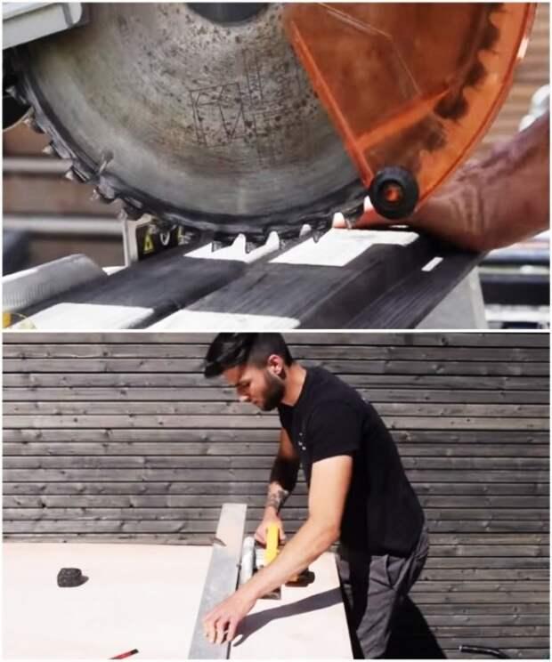 Для работы с древесиной понадобятся электропила (пилорама) и электролобзик и умение обращаться с ними. | Фото: youtube.com/ M A R V I N Atmoss'vert.