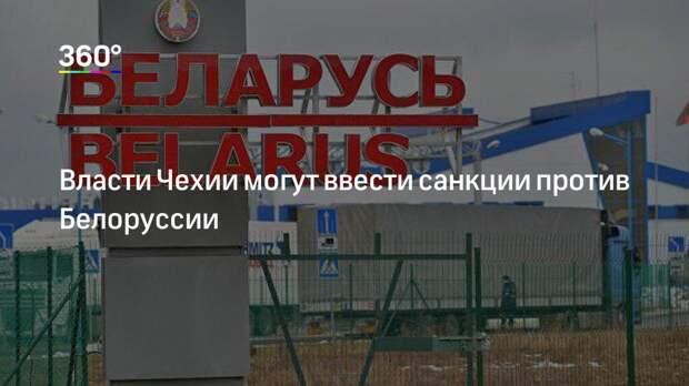 Власти Чехии могут ввести санкции против Белоруссии