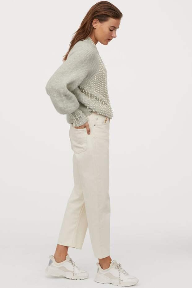 Свитер H&M с бусинами