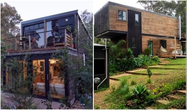 Австралиец собственноручно превратил 4 грузовых контейнера в современный дом