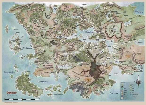 11. Dungeons & Dragons. Несуществующие миры, карты, фэнтези