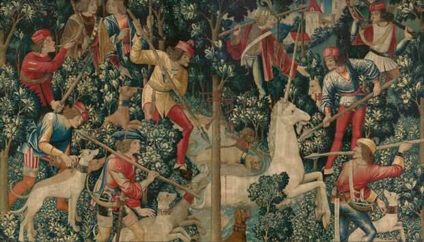 Изображена ли история Христа на гобеленах с единорогами