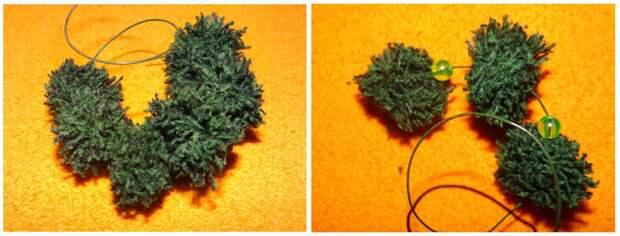Новогодняя елочка красавица из самого доступного материала