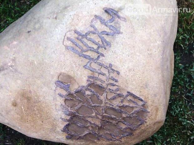 Необычный камень из реки