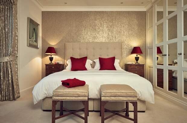 Комбинирование обоев в спальне: фото, интересные идеи (83 фото)