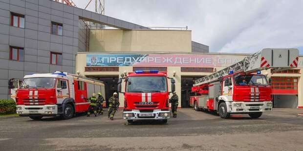 В подъезде дома на Коровинском шоссе ликвидировали пожар