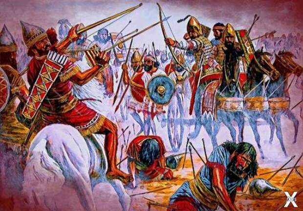 Армия Аккада в бою (справа) на поздне...