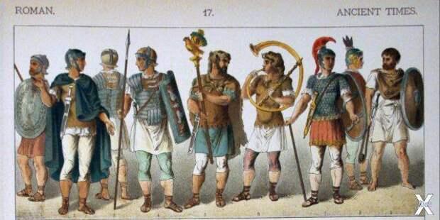 Древние римляне. Иллюстрация из книги...