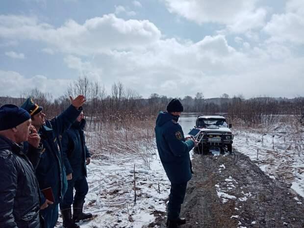 В Назаровском районе затоплены дороги