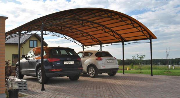 Как сделать на даче навес для автомобиля + виды навесов и материалов.