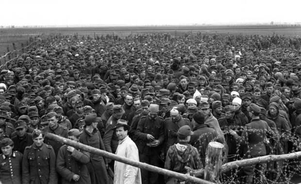 Взятые в плен немцы во время наступления союзников на Гейдельберг