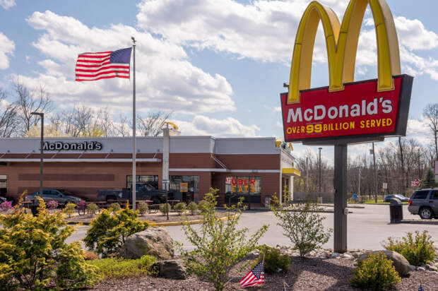 Минимальная зарплата сотрудника McDonald's в США выше доходов 97% россиян