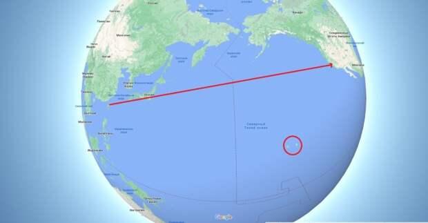 Почему корабли из Китая проходят вдоль Камчатки, а не напрямик?