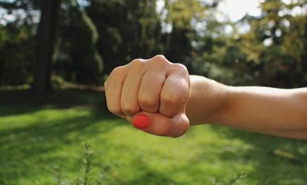 Супружеская чета набросилась с кулаками на полицейского в Крыму