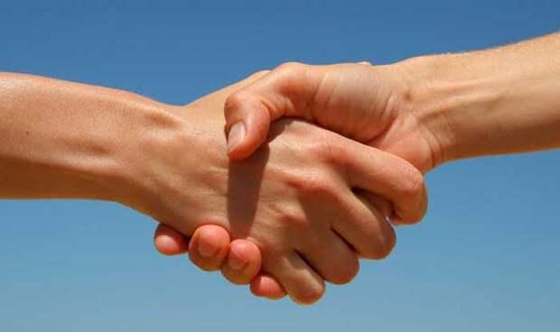 Рукопожатие несет в себе много информации. /Фото: добро24.рф