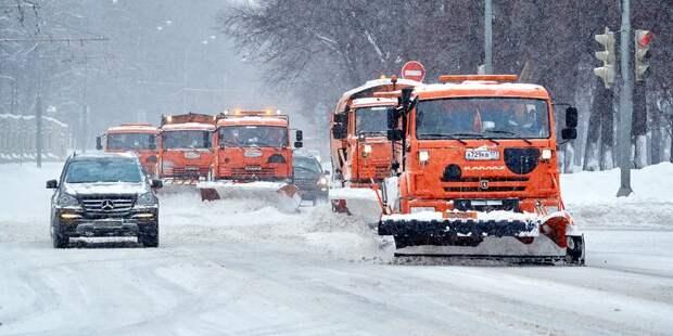 Городские службы работают в усиленном режиме из-за снегопада